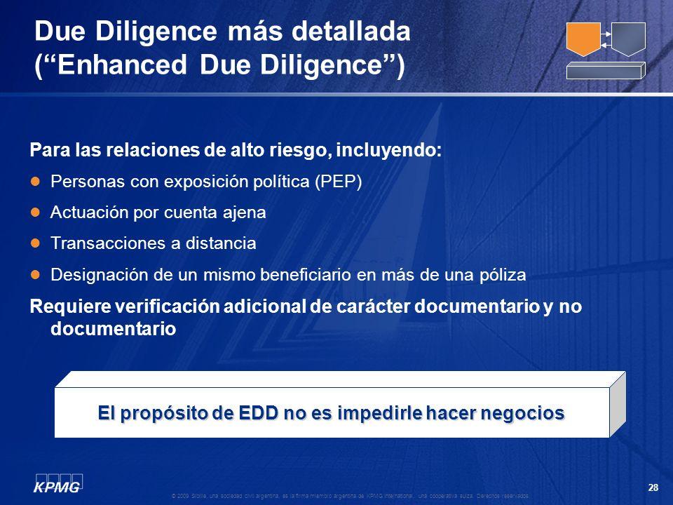 Due Diligence más detallada ( Enhanced Due Diligence )