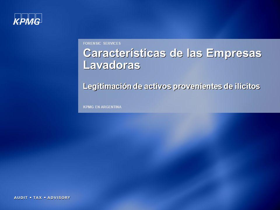 Características de las Empresas Lavadoras