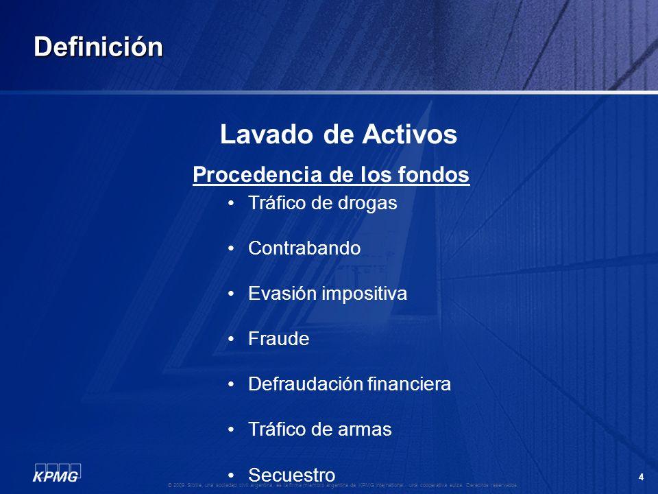 Definición Lavado de Activos Procedencia de los fondos