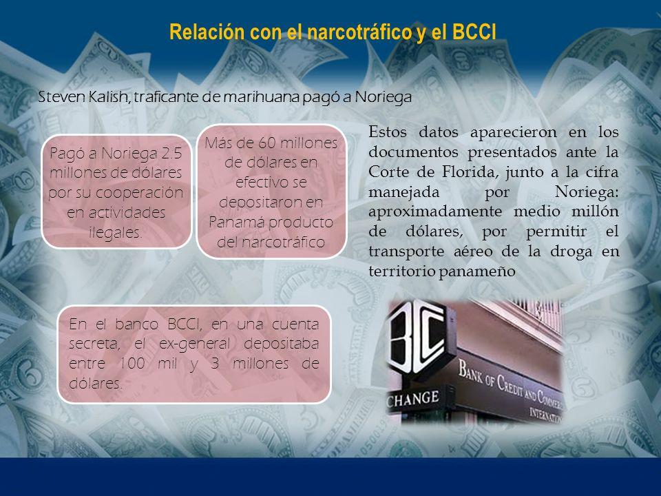 Relación con el narcotráfico y el BCCI