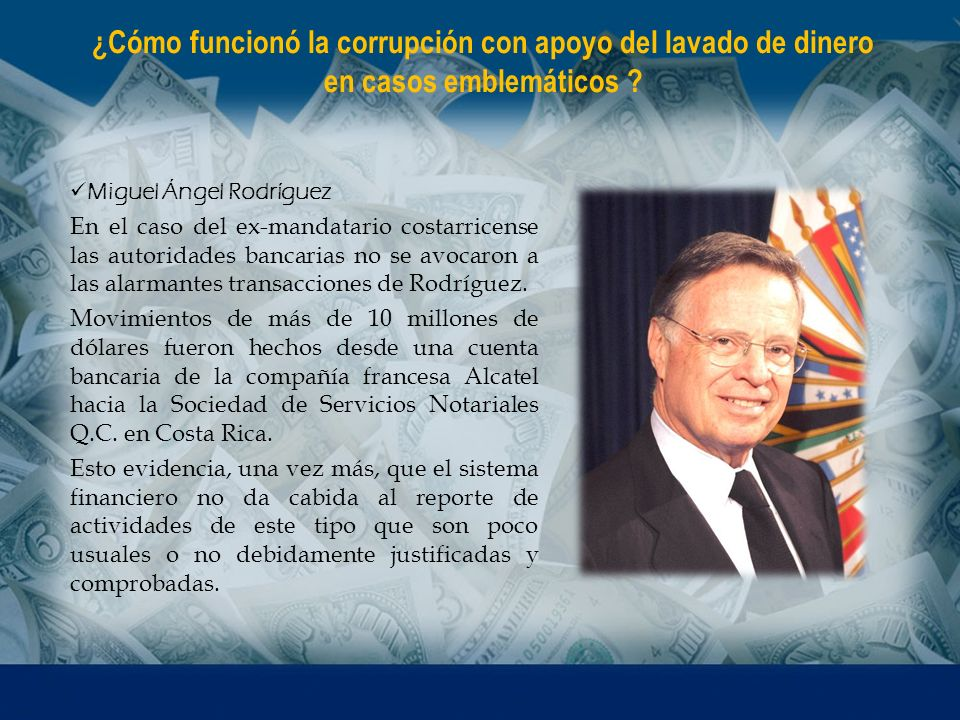 ¿Cómo funcionó la corrupción con apoyo del lavado de dinero en casos emblemáticos