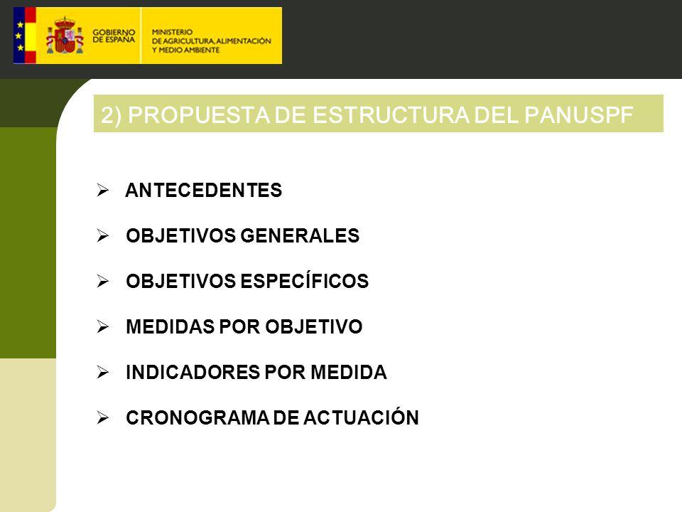 2) PROPUESTA DE ESTRUCTURA DEL PANUSPF
