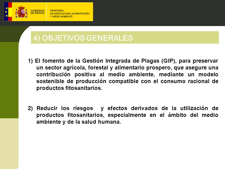 4) OBJETIVOS GENERALES