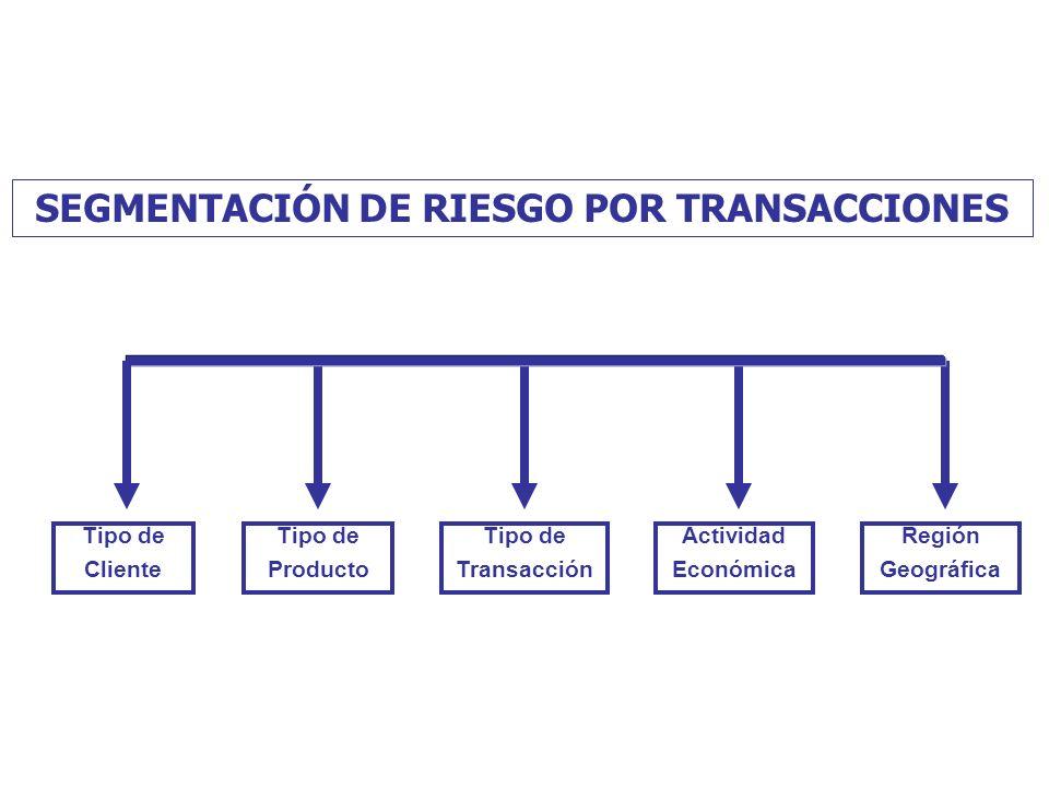 SEGMENTACIÓN DE RIESGO POR TRANSACCIONES