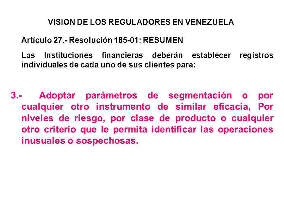 VISION DE LOS REGULADORES EN VENEZUELA