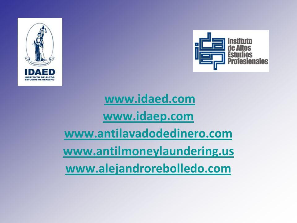www.idaed.com www.idaep.com. www.antilavadodedinero.com.