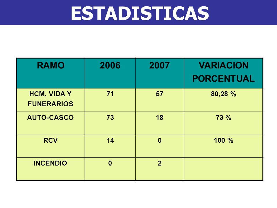 RAMO 2006 2007 VARIACION PORCENTUAL