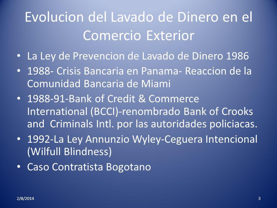 Evolucion del Lavado de Dinero en el Comercio Exterior