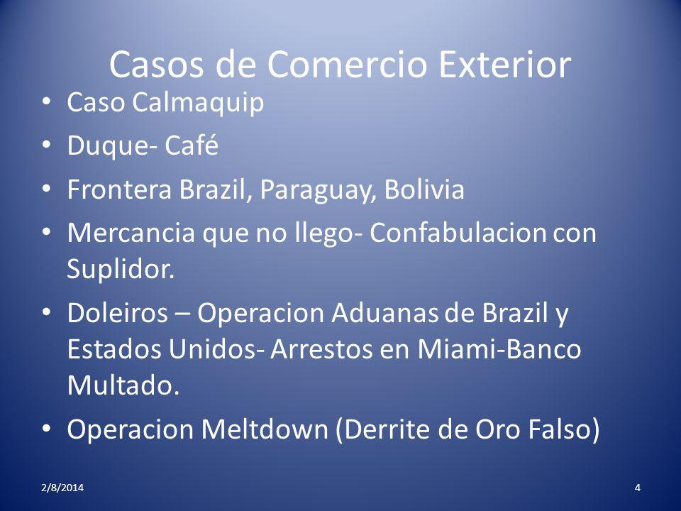 Casos de Comercio Exterior