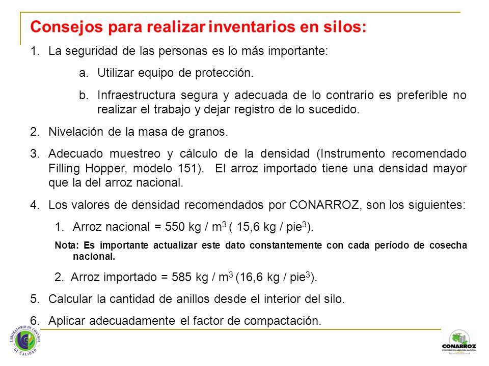 Consejos para realizar inventarios en silos: