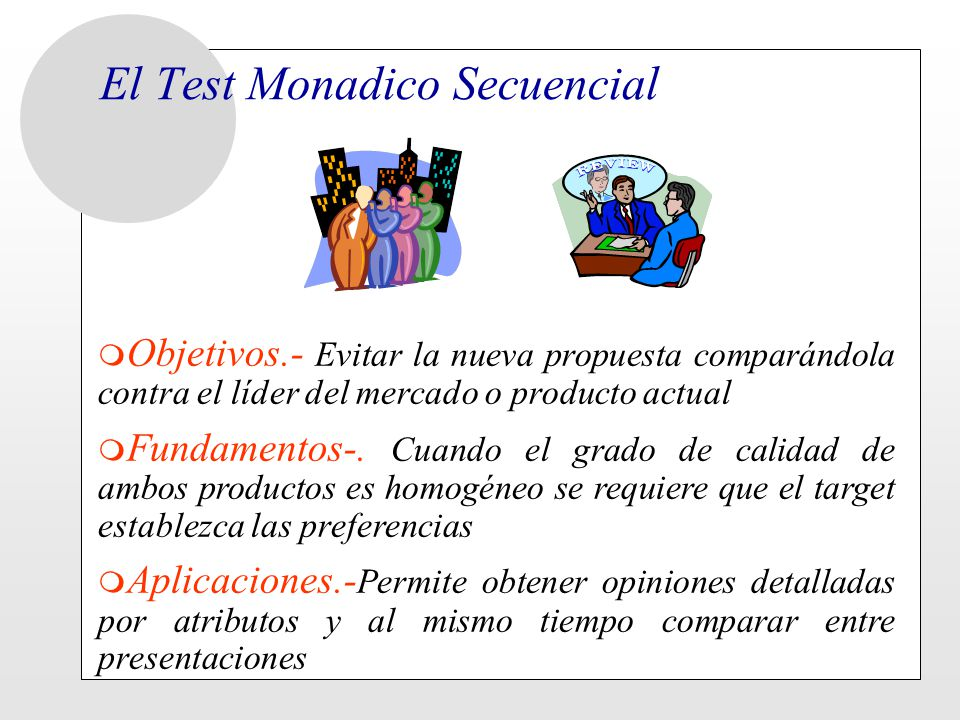 El Test Monadico Secuencial