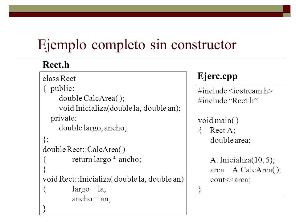 Ejemplo completo sin constructor