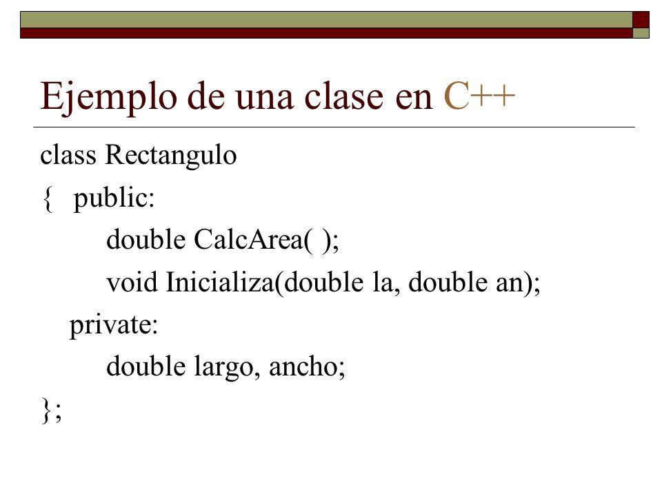 Ejemplo de una clase en C++