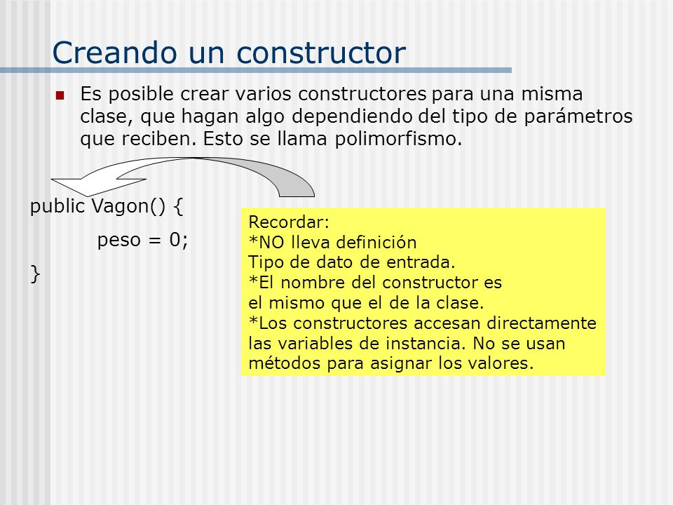 Creando un constructor