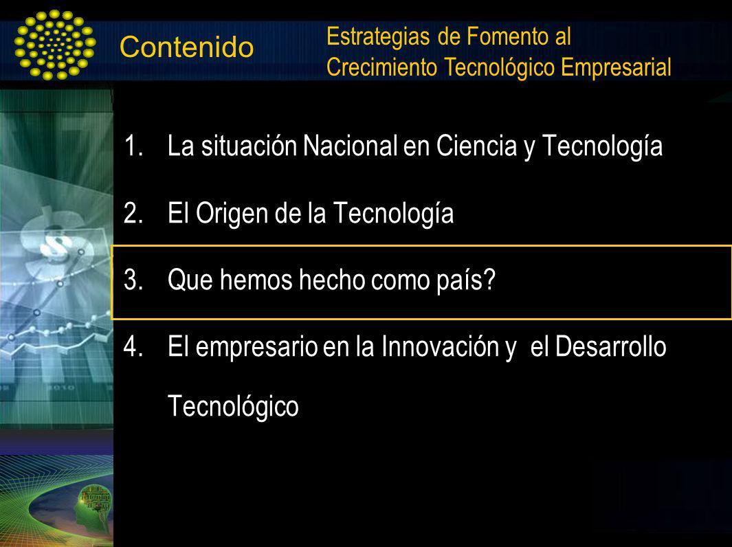 La situación Nacional en Ciencia y Tecnología