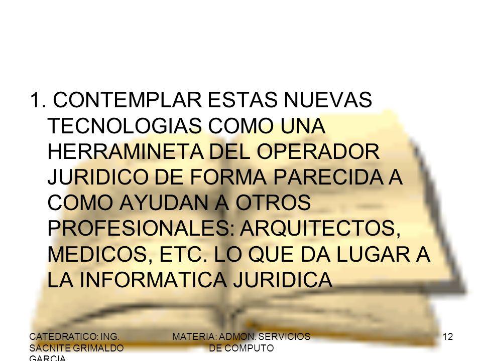 MATERIA: ADMON. SERVICIOS DE COMPUTO
