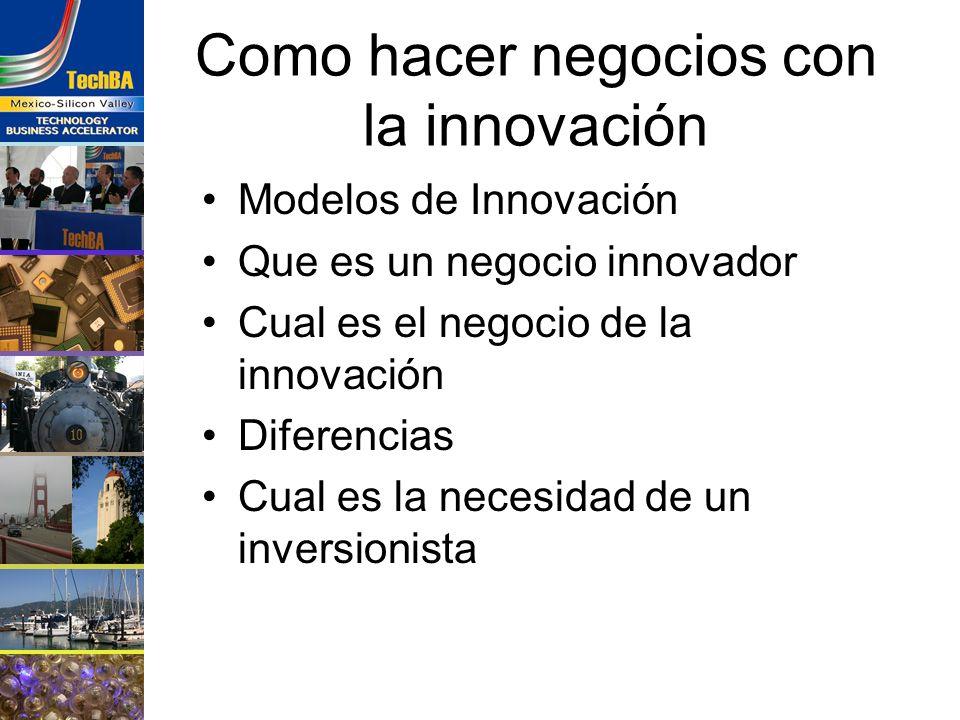 Como hacer negocios con la innovación