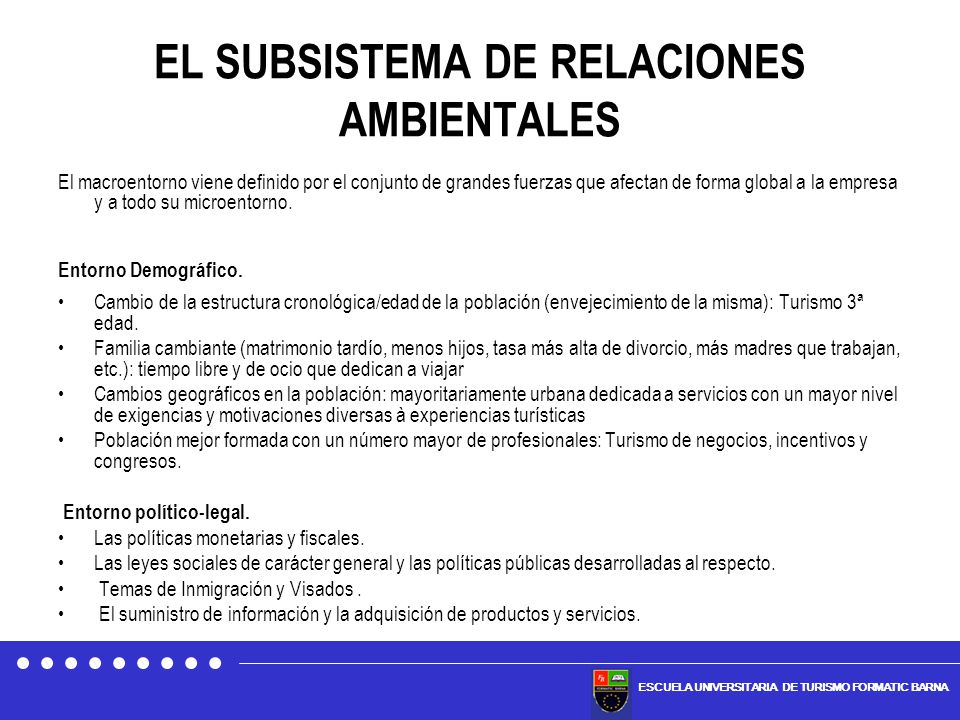 EL SUBSISTEMA DE RELACIONES AMBIENTALES