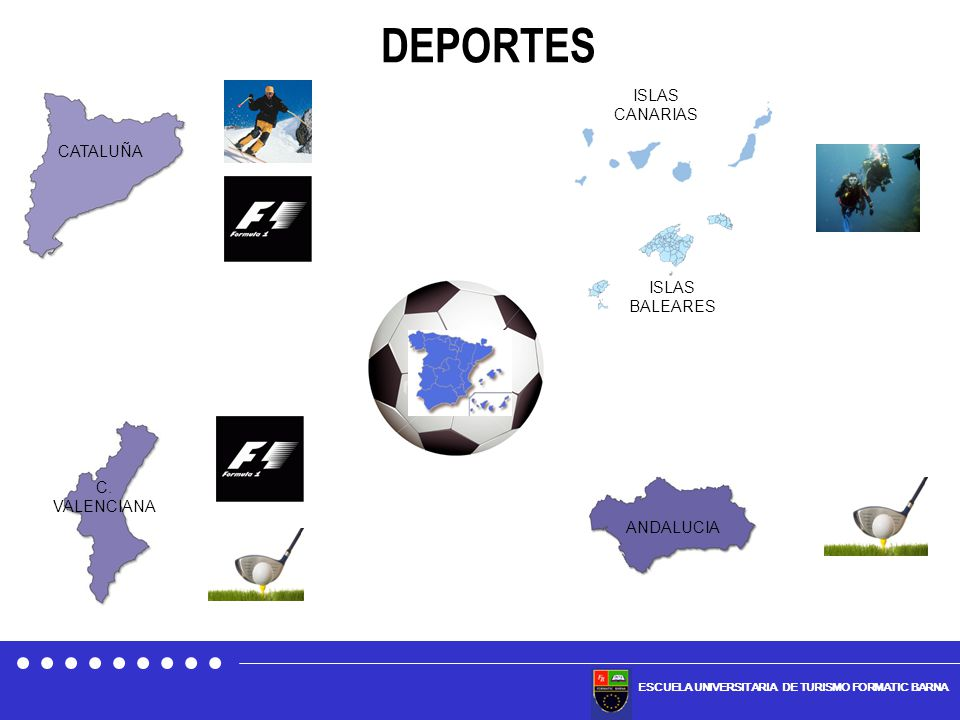 DEPORTES ISLAS CANARIAS CATALUÑA ISLAS BALEARES C. VALENCIANA