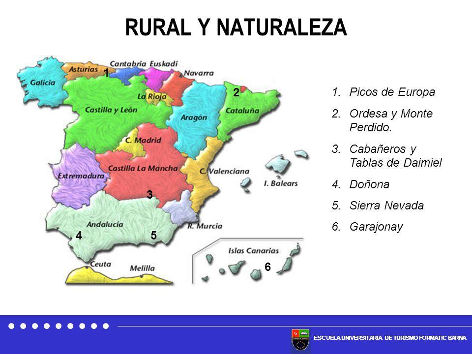 RURAL Y NATURALEZA 1 2 Picos de Europa Ordesa y Monte Perdido.