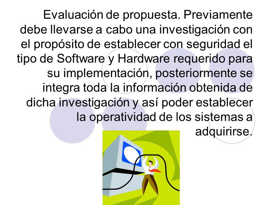 Evaluación de propuesta