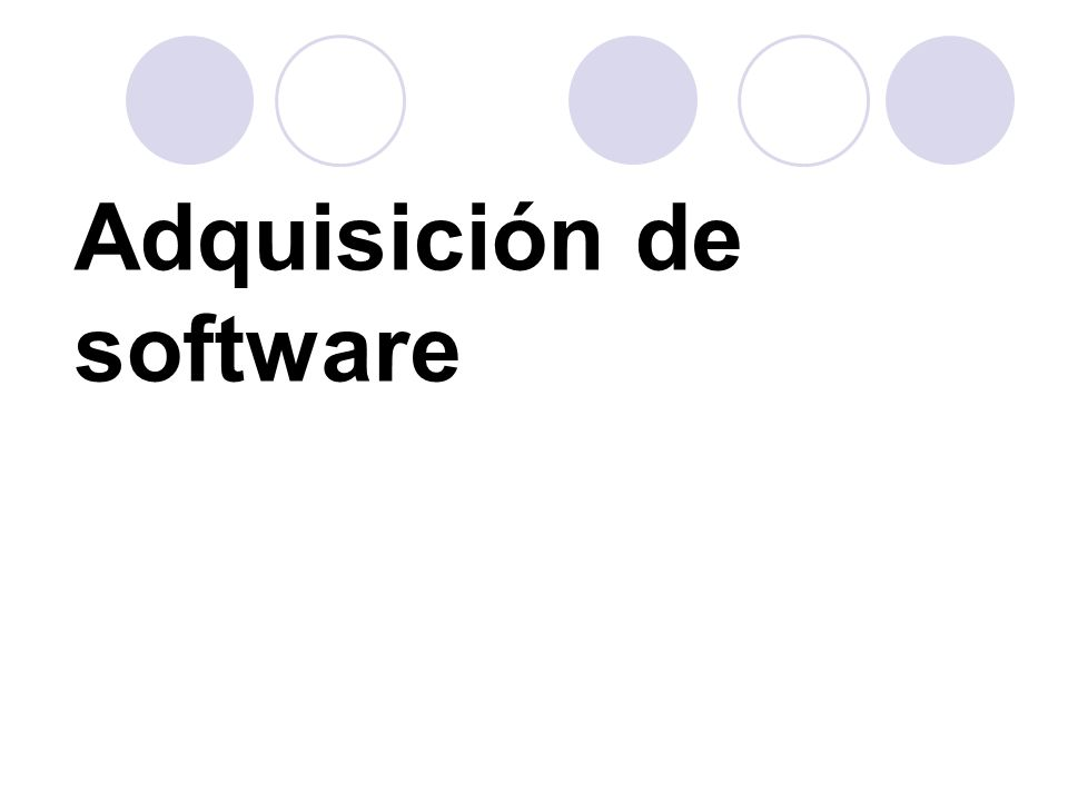 Adquisición de software