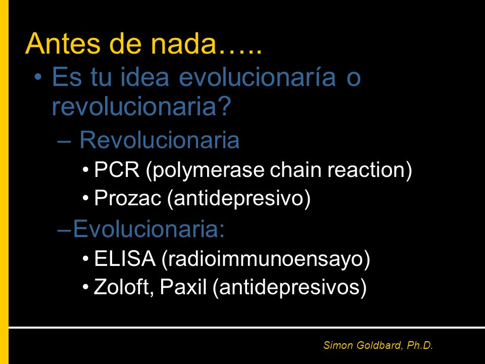 Antes de nada….. Es tu idea evolucionaría o revolucionaria