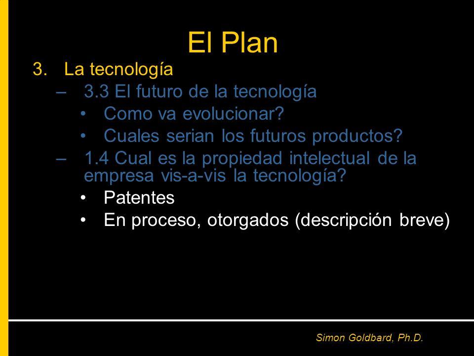 El Plan La tecnología 3.3 El futuro de la tecnología