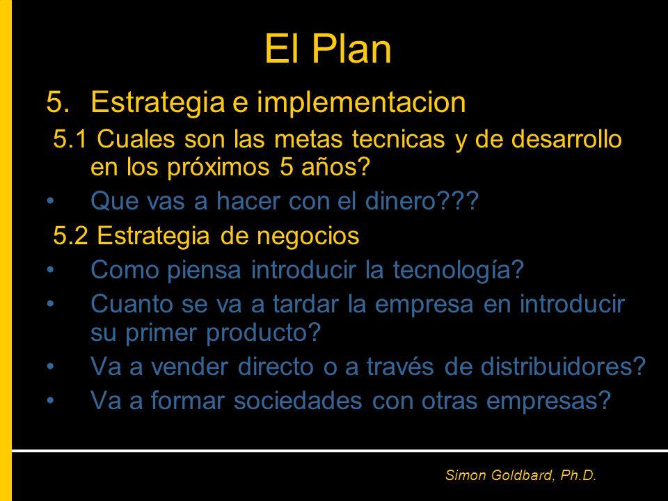 El Plan Estrategia e implementacion