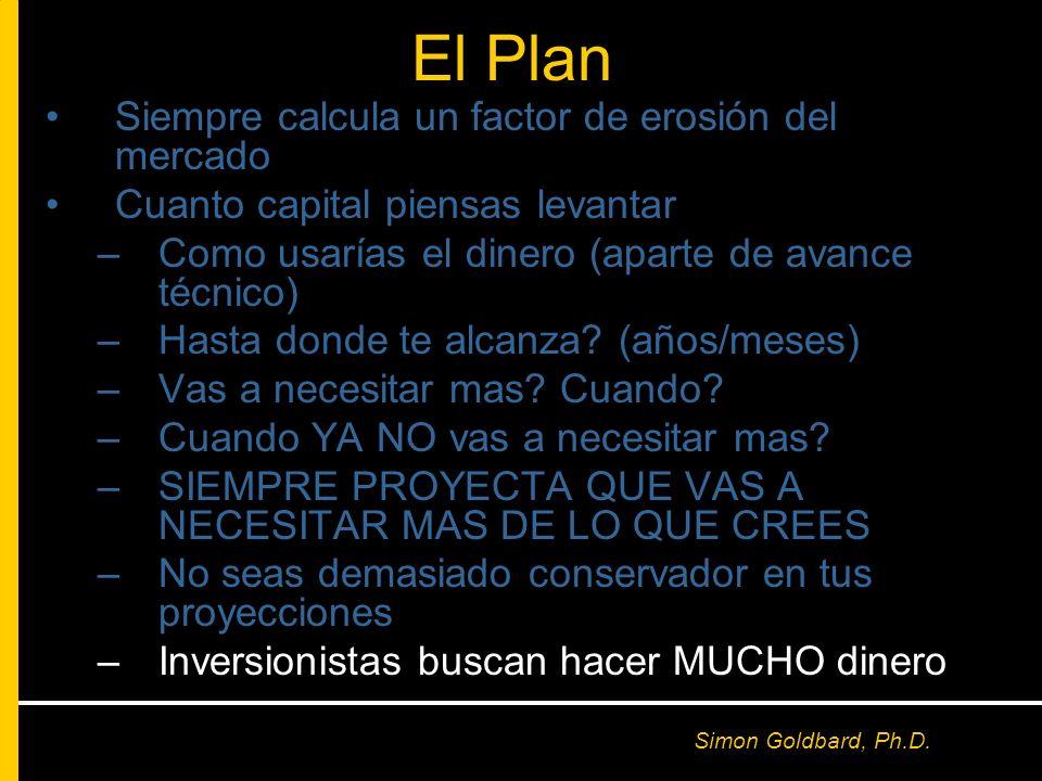 El Plan Siempre calcula un factor de erosión del mercado