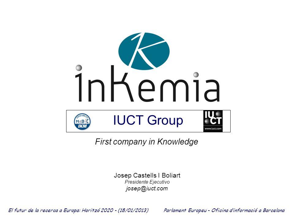 Josep Castells I Boliart Presidente Ejecutivo josep@iuct.com