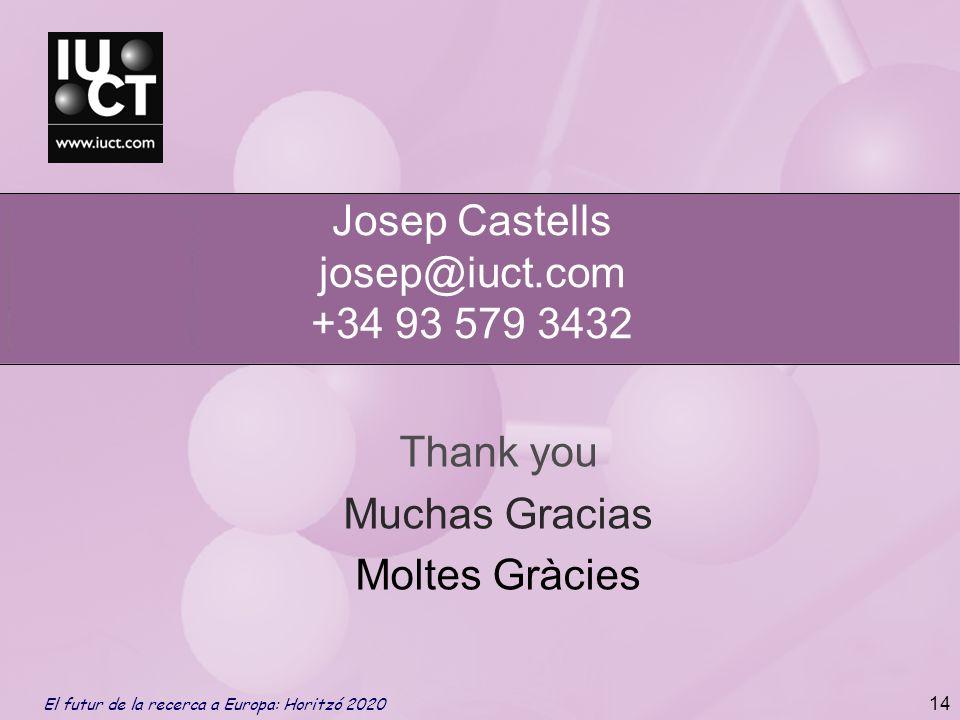 Thank you Muchas Gracias Moltes Gràcies