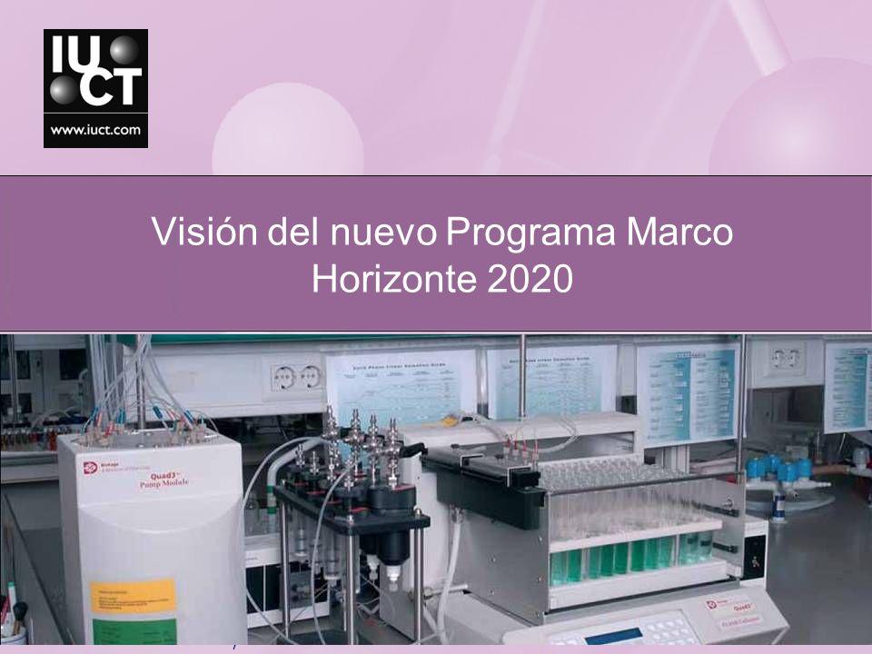 Visión del nuevo Programa Marco Horizonte 2020