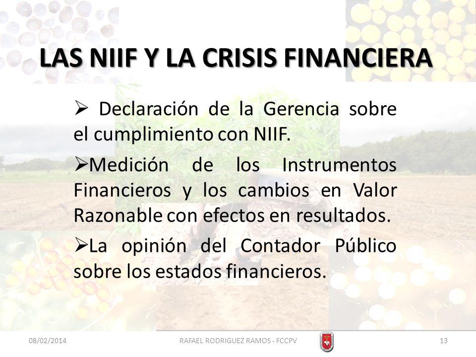 LAS NIIF Y LA CRISIS FINANCIERA