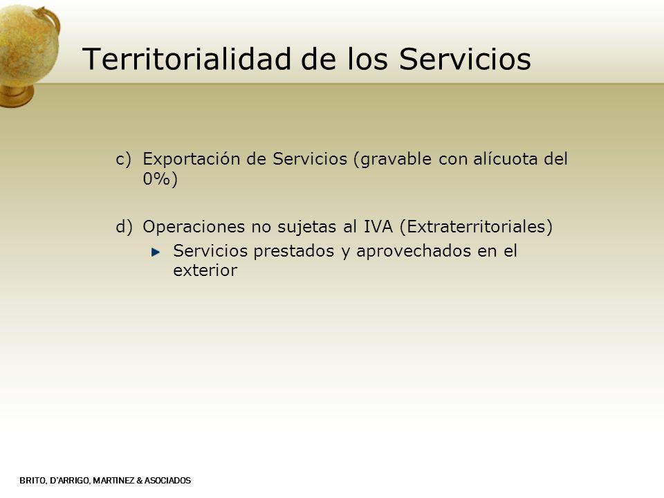 Territorialidad de los Servicios