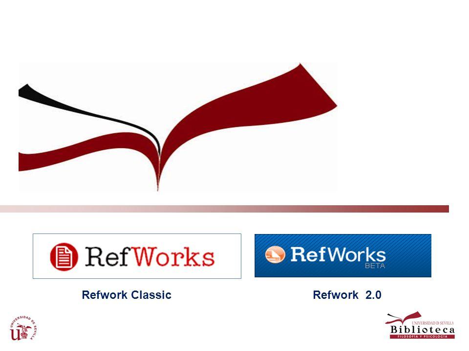 Refwork Classic Refwork 2.0