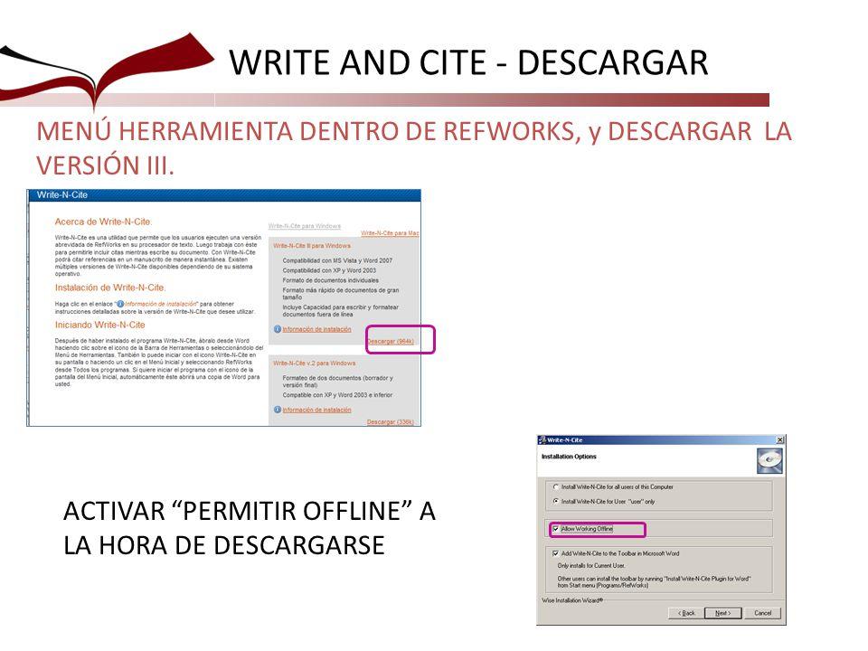WRITE AND CITE - DESCARGAR