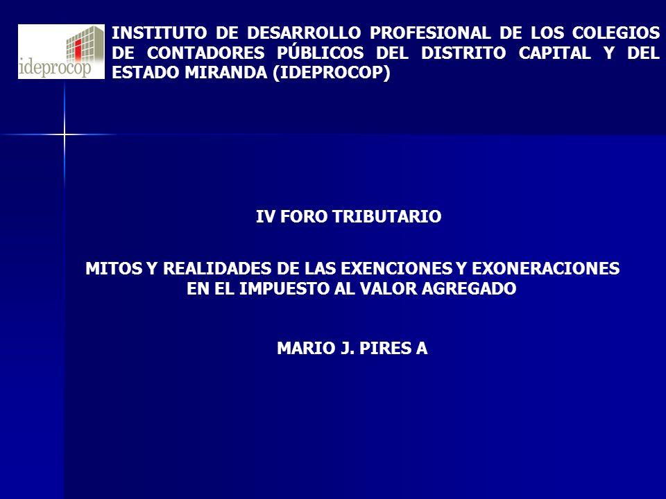 MITOS Y REALIDADES DE LAS EXENCIONES Y EXONERACIONES