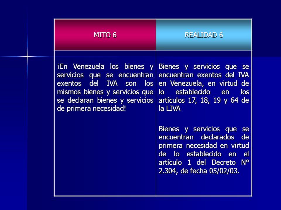 MITO 6 REALIDAD 6.