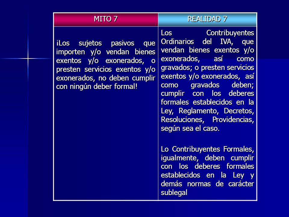 MITO 7 REALIDAD 7.