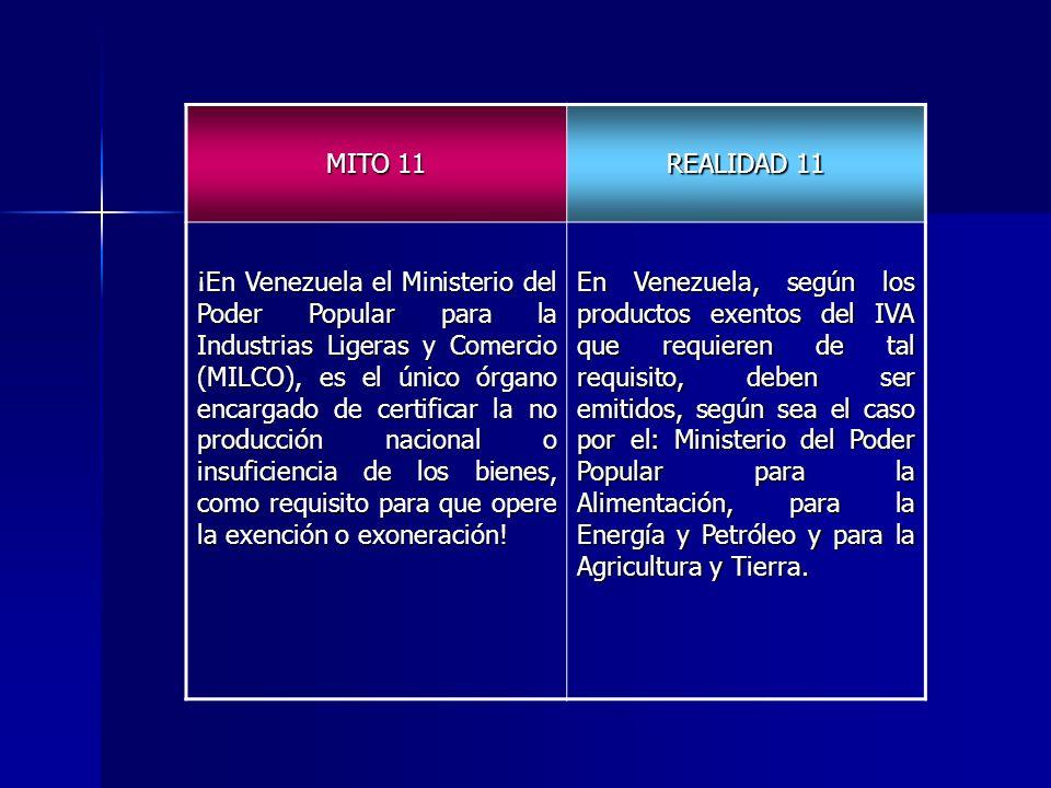 MITO 11 REALIDAD 11.