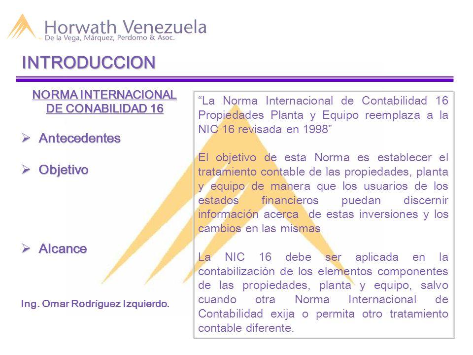 INTRODUCCION Antecedentes Objetivo Alcance NORMA INTERNACIONAL