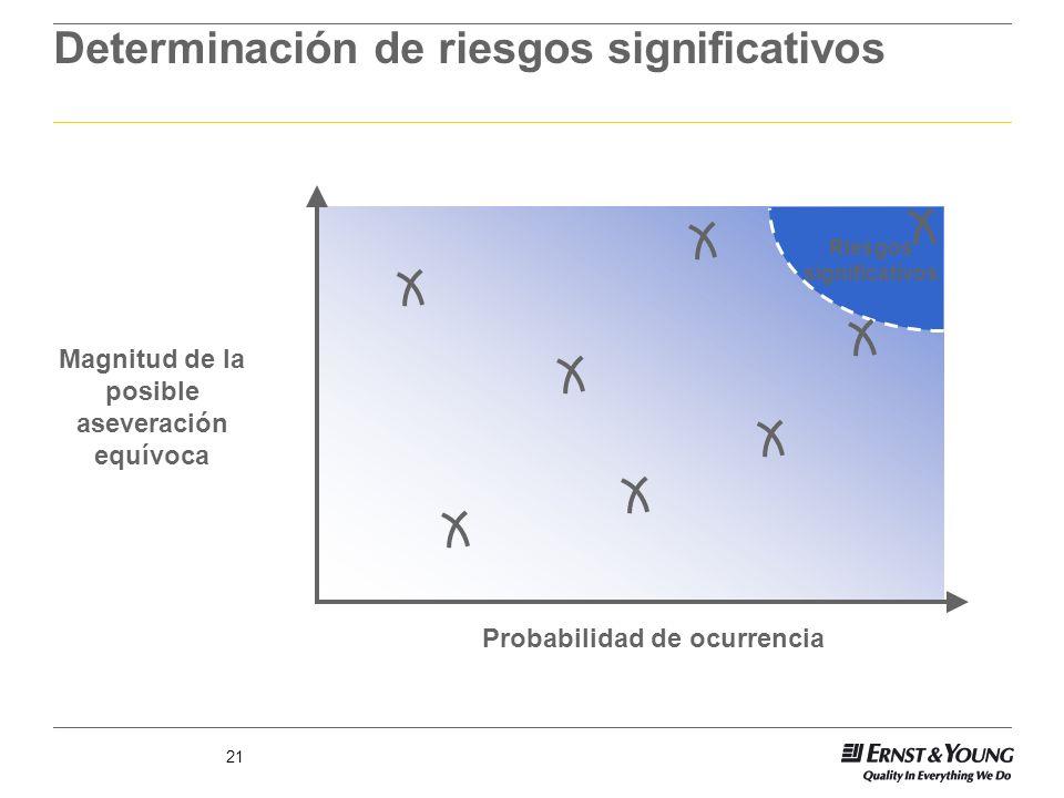Determinación de riesgos significativos
