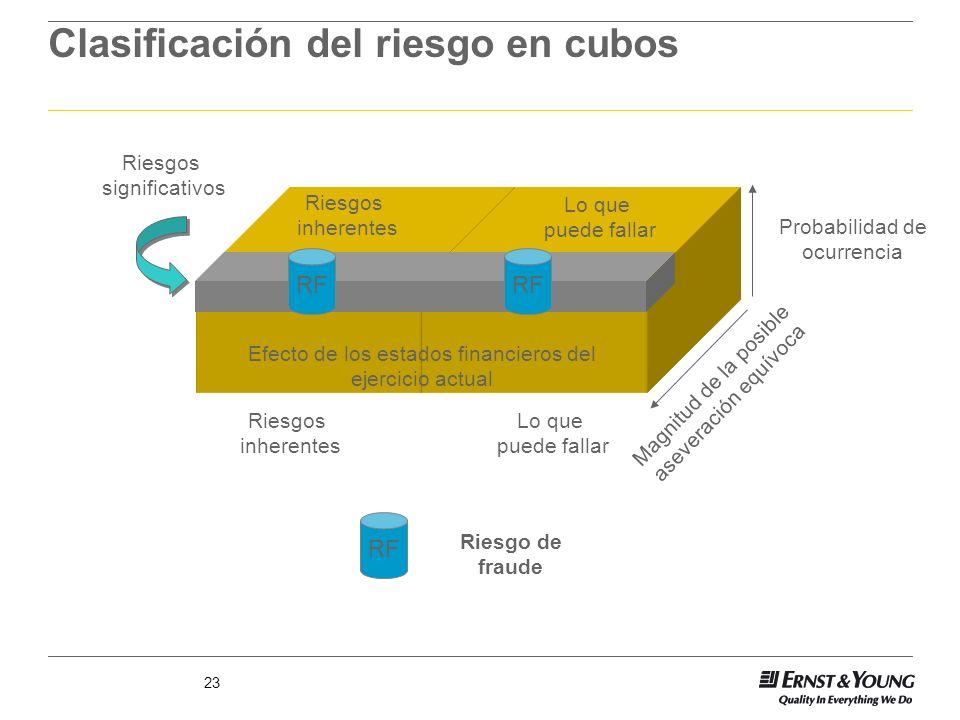 Clasificación del riesgo en cubos