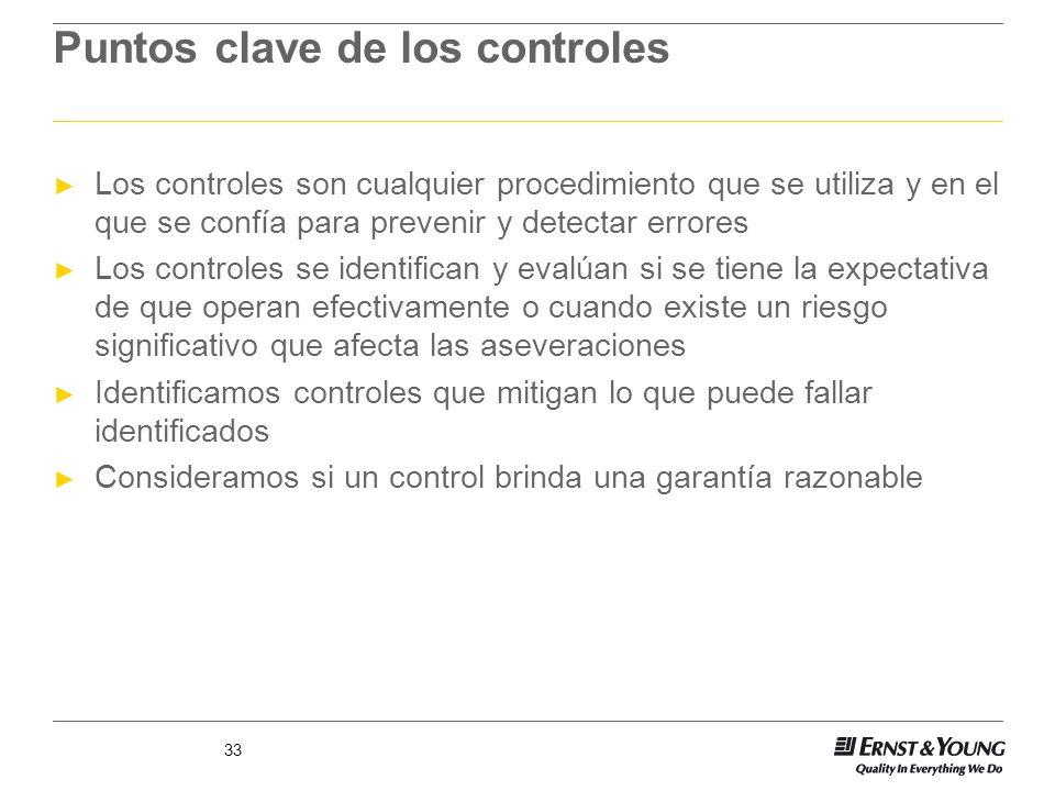 Puntos clave de los controles