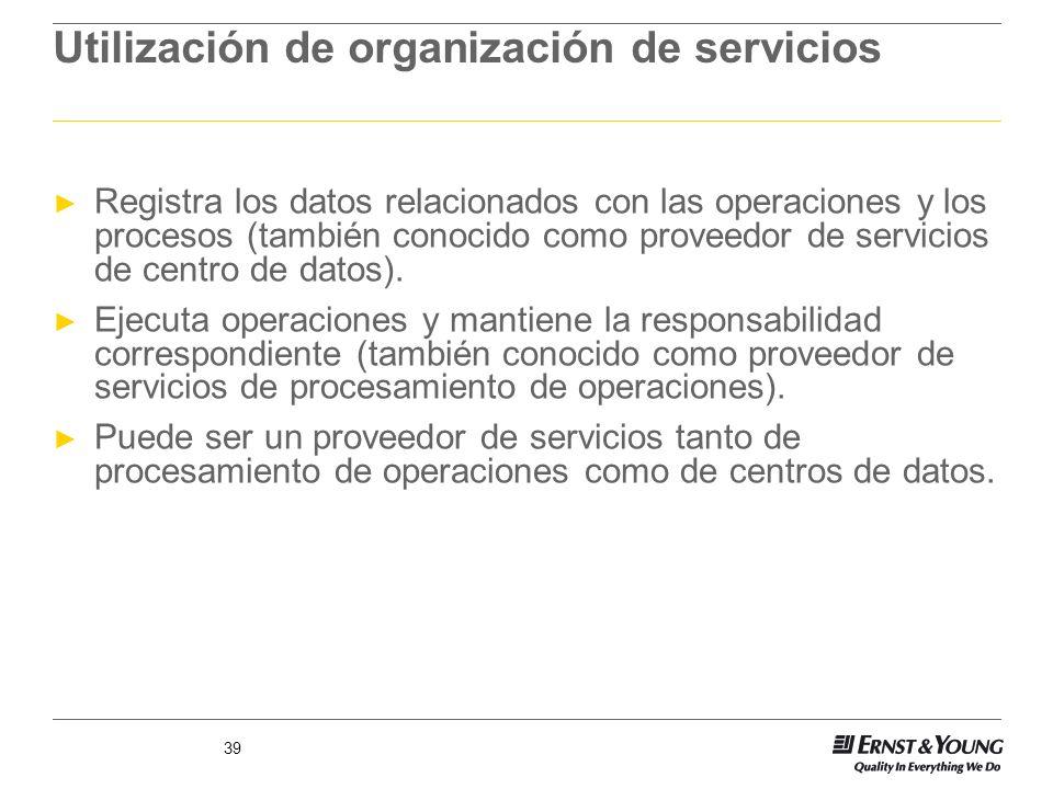 Utilización de organización de servicios