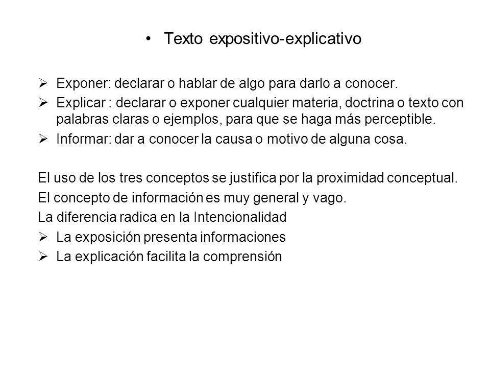 Texto expositivo-explicativo