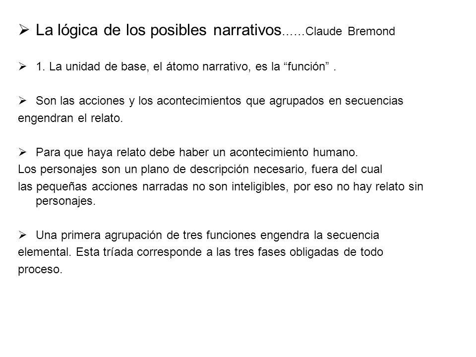 La lógica de los posibles narrativos……Claude Bremond