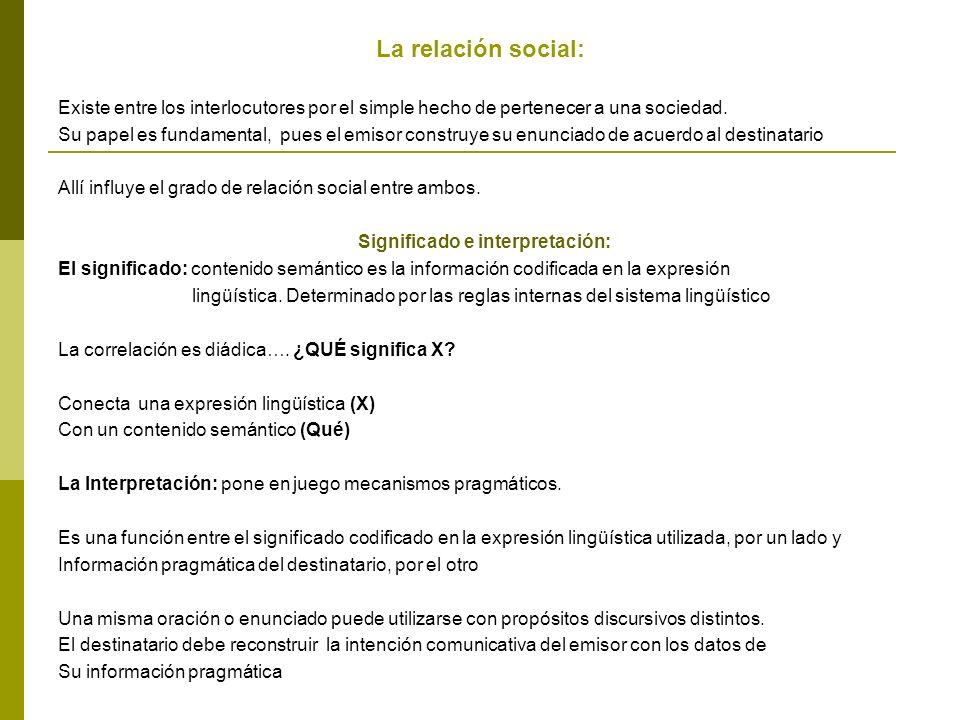 La relación social: