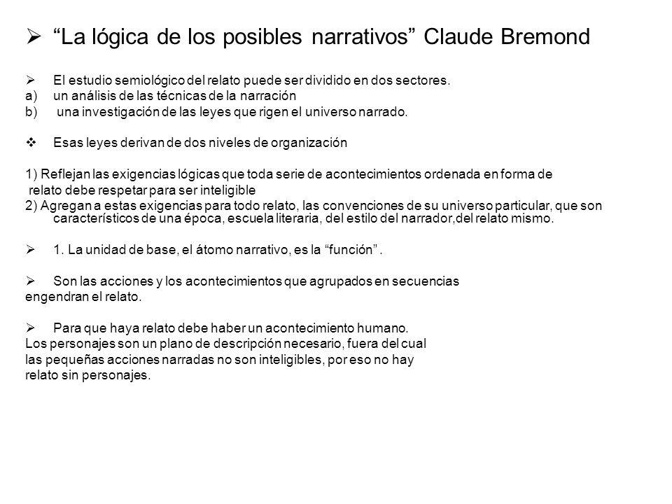La lógica de los posibles narrativos Claude Bremond